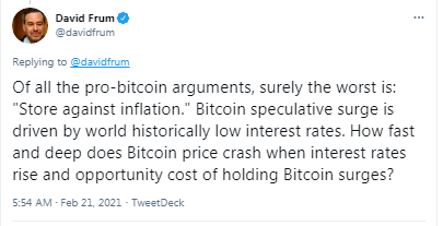 Speechwriter for Former US President George Bush Says BTC Rally Driven by 'Historically Low Interest Rates'