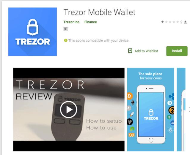 The real Trezor Wallet App